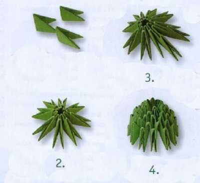 Как сделать оригами из бумаги кактус